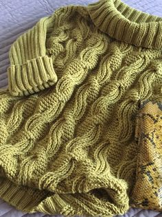 Sweatshirts and sweaters handmade. Buy a sweater with braids and a wide collar of oversized mustard color. Love Knitting, Cable Knitting, Easy Knitting Patterns, Knitting Designs, Knitting Stitches, Knit Crochet, Crochet Stitch, Hand Knitted Sweaters, Knitting Sweaters