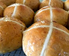 Recipe Sticky Date Hot Cross Buns with Caramel Glaze by Monica Falconer - Consultant - Recipe of category Baking - sweet
