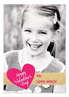 Glittery Valentine - photocard for classroom exchange (printed in less than a week!)