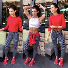 Top: LNA  Sports Bra: Alala Leggings: Athleta  Shoes: APL
