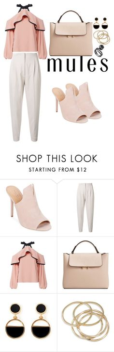 """""""mules"""" by vanessa0xx ❤ liked on Polyvore featuring Halston Heritage, MaxMara, Alexis, MANGO, Warehouse and ABS by Allen Schwartz"""