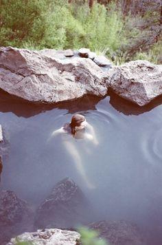 Swim in natural pools.