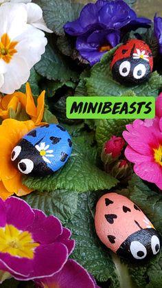 Ladybug Rocks, Ladybugs, Painted Rocks, Hand Painted, Ladybug Party, Birthday Games, Camping Crafts, Love Bugs, Pebble Art