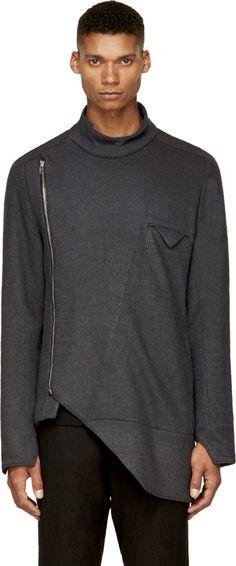 Siki Im Gray Wool Deltawing Shirt Jacket - 188