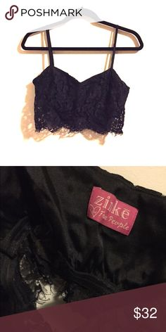 NWOT Zinke for Free People Bralette Super sexy Bralette with built in band and adjustable straps! I took the tags off but I've never worn it....bought it a long time ago to wear with a specific outfit, but it never looked right :( the lace is really beautiful though Free People Intimates & Sleepwear Bandeaus