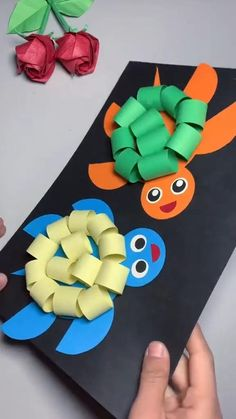 Toddler Paper Crafts, Animal Crafts For Kids, Paper Crafts Origami, Fun Diy Crafts, Paper Crafts For Kids, Easy Crafts For Kids, Craft Activities For Kids, Diy Arts And Crafts, Creative Crafts