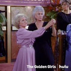 dancing hulu rose golden girls dorothy the golden girls betty white bea arthur dorothy zbornak rose nylund beatrice arthur #gif from #giphy