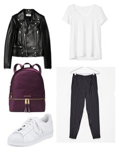 """Back 2 skool #5"" by karinstyleonly on Polyvore featuring Gap, Yves Saint Laurent, adidas and MICHAEL Michael Kors"