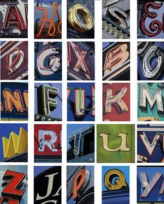Stephen Magsig's Urban Alphabet Paintings