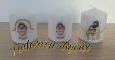 Federica Bijoux : Candele personalizzate thun piccole con angelo e n...