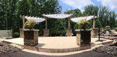 The new ceremony location  at Sand Springs Country Club!