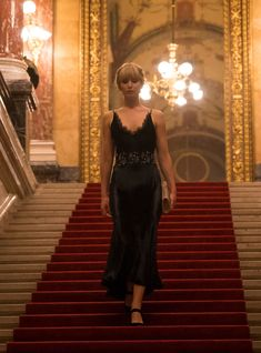 "Steal Jennifer Lawrence's Sexy Black Dress From ""Red Sparrow"" Jennifer Lawrence Red Sparrow, Jennifer Lawrence Pics, Red Sparrow Movie, Ciaran Hinds, Joely Richardson, Mary Louise Parker, Queen, High Low, Actresses"