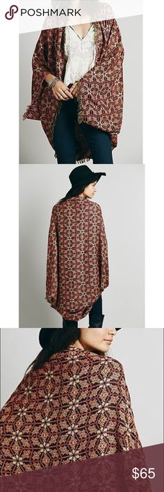 Free People Ikat Kimono Never wore it! Free People Sweaters Shrugs & Ponchos