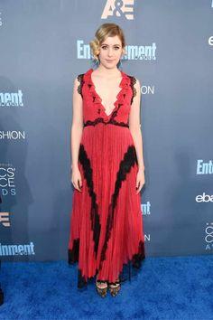Greta Gerwig Critics' Choice Awards Red Carpet Dresses 2017