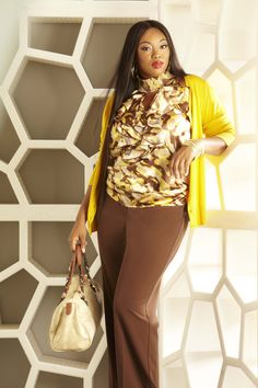 Signature by Ashley Stewart Campaign 2013 with Model Liris Cross. Signature by Ashley Stewart Cardigan and Pant.