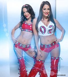 The Bella Twins Battle-Ready Divas WWE Photo Shoot