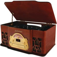 Electrohome Table Top Nostalgia Music Center With Am And Fm Radio, Cd & Turntable