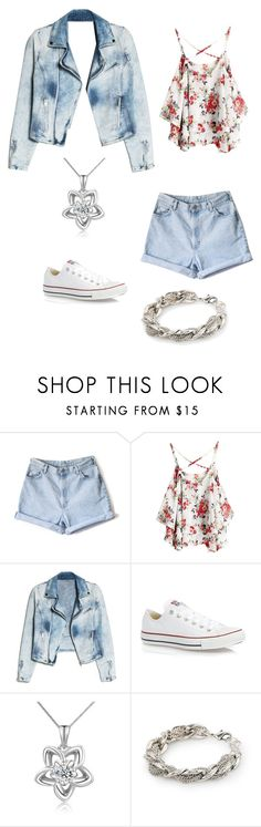""":P"" by arisomarribas ❤ liked on Polyvore featuring MANGO, Converse and MaBelle"