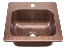 SINKOLOGY Antique Copper Single Bowl Copper Drop-in Residential Bar Sink at Lowe's. The Seurat copper sink is handcrafted from 16 gauge pure solid copper and designed to be easy to install. Sinkology handcrafts each sink using only the