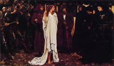 The Penance of Eleanor, Duchess of Gloucester by Edwin Austin Abbey. I was captivated by this painting when I first saw it as a young girl in art class at the Carnegie Museum of Art in Pittsburgh. Lancaster, Carnegie Museum Of Art, Art Museum, Gloucester, Edwin Austin Abbey, Art Magique, Pre Raphaelite, Wise Women, Classical Art