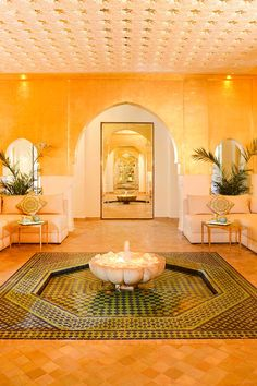 Sofitel Marrakech Lounge and Spa - Marrakech, Morocco - The large spa is a peaceful affair with a jacuzzi and pool and offers French-style treatments.