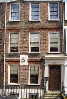 Preserved in 1895 as London's first literary shrine. Thomas Carlyle's house was once a favourite gathering place for writers, including Browning, Dickens and Tennyson, Chelsea, London. Open to the public