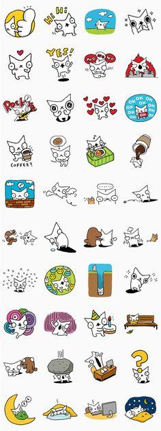 A Snowcat le encanta el café los donuts y estar solo.  Descrubre el fantástico mundo de Snowcat con estos adorables stickers.