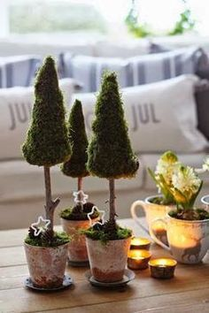 Mini Christmas trees full of joy and happiness # christmas tree Informations About Mini-Weihnachtsbäume voller Freude und Fröhlichkeit - Dekoration Ideen Pin You can easily use Christmas Tree Topiary, Decorations Christmas, Mini Christmas Tree, Green Christmas, Christmas Mantels, Christmas Time, Christmas Crafts, Xmas Tree, Natural Christmas