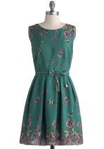 ModCloth.com is an awesome website for unique vintage style dresses, many of which are very reasonably priced.  You can even scroll down to check the comments on each dress to see what customers have said about that particular dress' quality, fit, and whether it runs true-to-size.