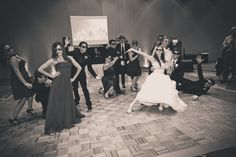 gangam style | wedding party | wedding photos | wedding ideas | wedding poses | reception shots | bridal party entrance  Photo By Alicia Lucia Photography
