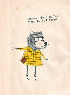 mattsaunders_wolf_hipster  http://www.handsomefrank.com/illustrators/matt-saunders/#