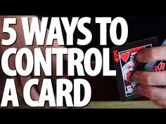 ▶ 5 Ways to Control a Card - Tutorial - YouTube