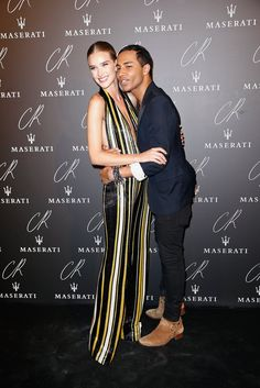 Pin for Later: Did You Get the Memo to Wear All Black to Paris's Biggest Fashion Party? Rosie Huntington-Whiteley and Olivier Rousteing Rosie and Olivier made up for ditching the dress code by sharing some sweet PDA on the black carpet.