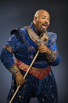 what the Broadway trio believed Jasmine and Aladdin did for Valentine's Day. James Monroe Iglehart, who plays the role of Genie, was last seen in Broadway's Memphis and also does stand-up comedy on the side. Aladdin Musical, Genie Aladdin, Aladdin Broadway, Aladdin Costume, Broadway Nyc, Broadway Plays, Genie Costume, Aladdin Movie, Aladdin Cosplay