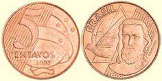 Moeda brasileira de 5 centavos de real 1998