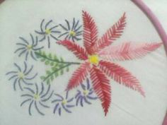 Hand Embroidery: Flower design