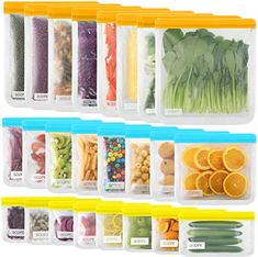 Amazon.com: 24 reusable storage bags, SODPE reusable sandwich bags, 8 extra large lunch bags, 8 large sandwich bags and 8 snack bags, sealed bags, environmental protection and leak proof freezing bags,: Kitchen & Dining Food Storage Organization, Bag Storage, Organizing, Reusable Sandwich Bags, Reusable Bags, Big Sandwich, Snack Bags, Stationery, Kitchen Dining