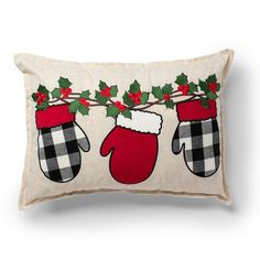 Red Throw Pillows, Diy Pillows, Decorative Throw Pillows, Diy Pillow Covers, Colorful Pillows, Christmas Cushions, Christmas Pillow Covers, Christmas Sewing Projects, Christmas Crafts