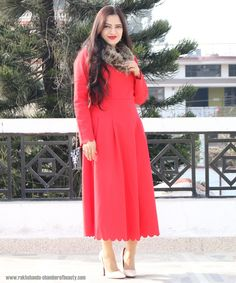 Chamber of beauty | Indian Beauty & Fashion Blogger: The Red Scalloped Dress #fashionblogger #vintagedress @daintyjewells