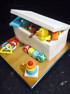 Toy Box Baby Shower Cake