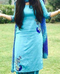 Save in gallery Indian salwar kameez CLICK VISIT link above to read Punjabi Suit Boutique, Punjabi Suits Designer Boutique, Indian Designer Suits, Indian Suits, Indian Dresses, Indian Wear, Embroidery Suits Punjabi, Embroidery Suits Design, Hand Embroidery