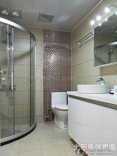 Cool Wet and dry separation of bathroom decoration picture 2014