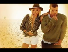 Kate Upton and Kellan Lutz for Dylan George and Abbot + Main Fall 2012