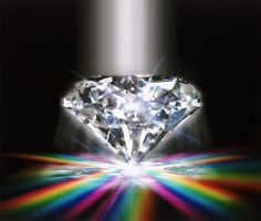 Another reason to love diamonds...I do this sorta in my home. I hang prisms so they glow on the walls during the day!