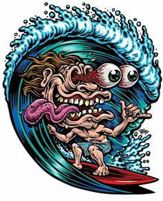 Jimbo 'Mr. Santa Cruz' Phillips unmistakable style... Skate, Surf or Snow, the dude had it covered SkullyBloodrider.