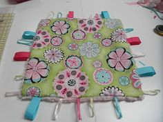 Sew Divertimento: Baby Taggie Blanket ~ Tutorial ( I made for Mira. One side minky the other from her newborn onesies)