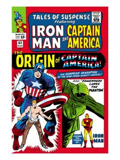 Tales Of Suspense #63 Cover: Iron Man, The Phantom, Captain America, Rogers and Steve Premium Poster