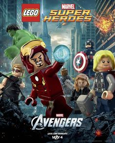 Marvel + Lego poster - excellent!