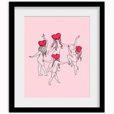 Happy and in love <3  Produced on a premium linen paper Artwork size: 18
