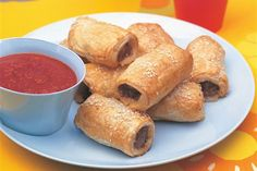 Bill Granger's sausage rolls with homemade ketchup recipe